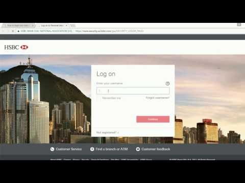 How To Login Into Hsbc Online Banking Account United States Of America