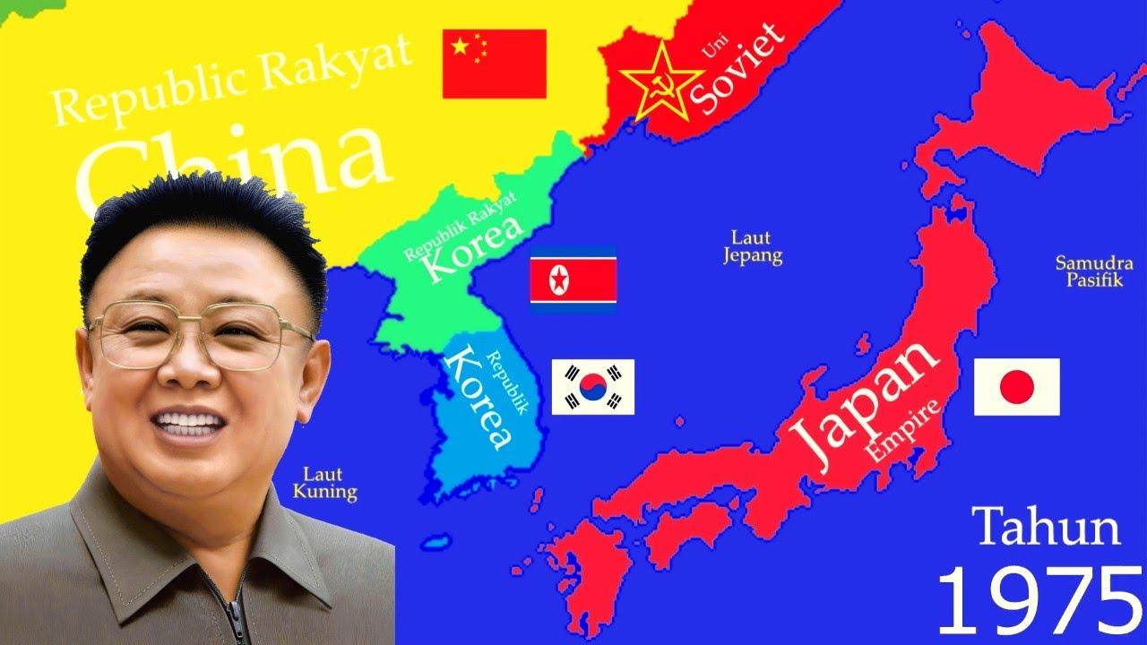 Peta Sejarah Korea Utara Dan Korea Selatan History Map Timeline Year 1 2019 Youtube