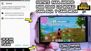 Porfin saldra Fortnite Android para Moviles Gama Baja - Media para todos los Moviles Fortnite Beta