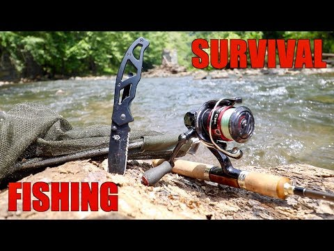 SURVIVAL FISHING CHALLENGE!!! (NO Lures & NO Bait)