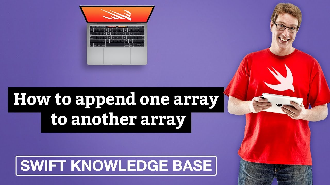 How to append one array to another array - free Swift 5 0