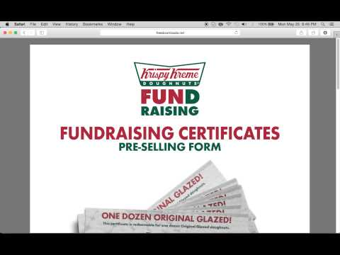 Fill In A Krispy Kreme Fundraising Gift Certificate Form