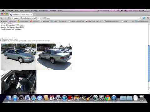 Craigslist Jacksonville FL Used Cars - How To Search