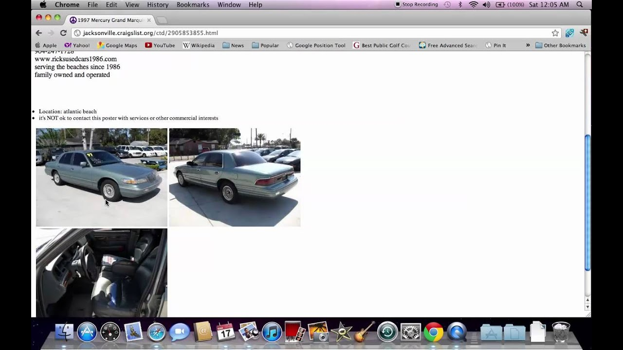 Craigslist Jacksonville Fl Used Cars How To Search Youtube
