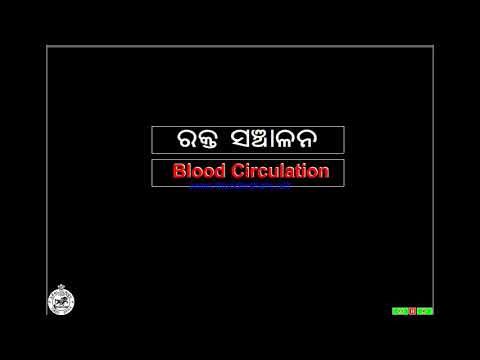 Blood circulation in Human Heart. 10th class science course in odia language .