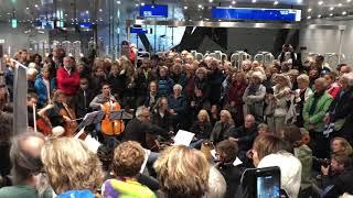 Pop Up celloconcert metrostation Vijzelgracht Amsterdam