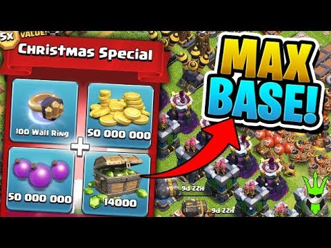 "THIS INSANE $100 PACK MAXED MY BASE (Minus Walls) - ""Clash of Clans"""