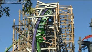 joker rmc hybrid roller coaster at six flags discovery kingdom