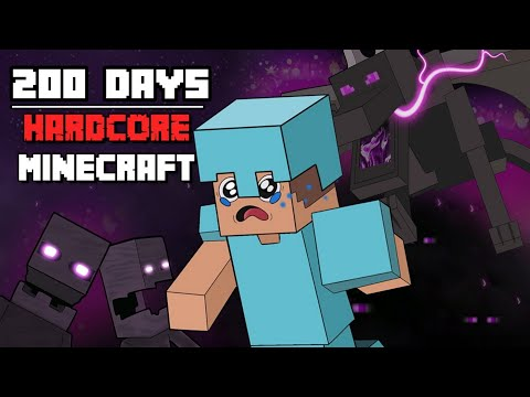 I Survived Hardcore Minecraft For 200 Days And This Is What Happened