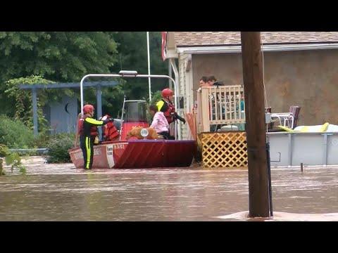 Heavy rain, flooding continues across the Northeast