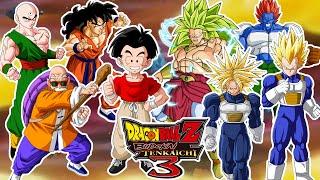Dragon Ball Z Budokai Tenkaichi 3 : HUMANOS VS MUSCULOSOS ! TENSHINHAN VENCE A BROLY SSJ3 !