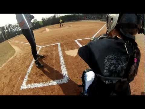 Softball Umpire POV From Behind Plate