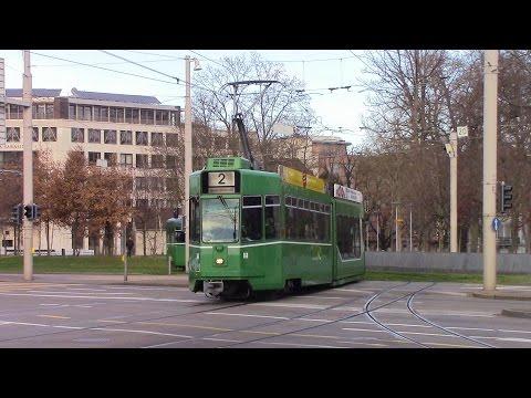 Trams at Basel SBB Railway Station Straßenbahn bei Bahnhof Basel SBB Trams à Gare de Bâle CFF