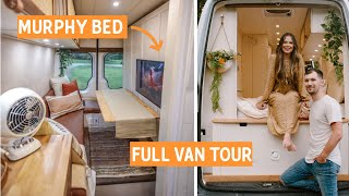 The ULTIMATE DIY VAN TOUR with FULL BATHROOM and an AMAZING MURPHY BED