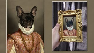 Turning my Pet Portrait into a Renaissance Oil Painting Using Photoshop | Petikoviko