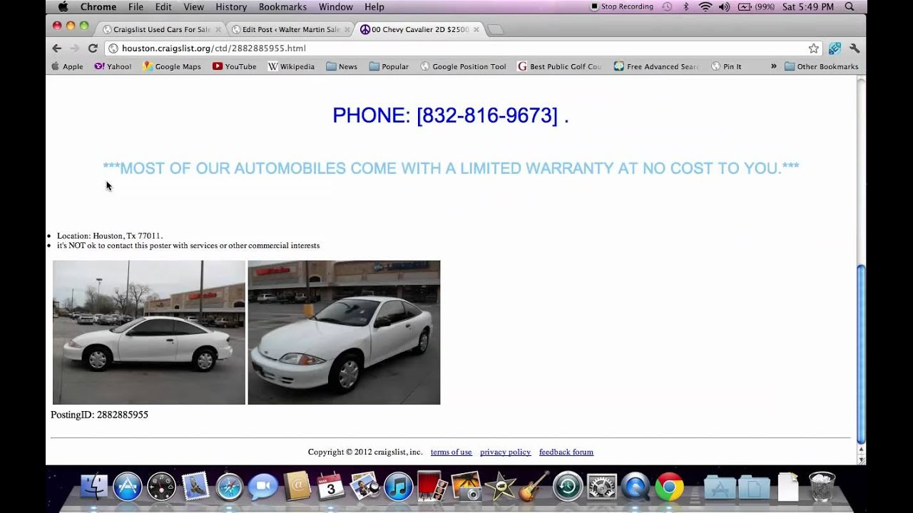 Craigslist houston used cars how to search for used trucks and suvs youtube