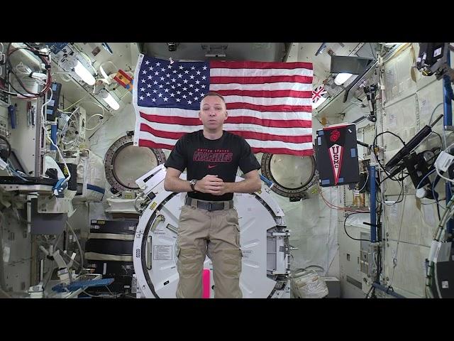 Advisory Board Member Col. Randy Bresnik Says Hello - From SPACE!