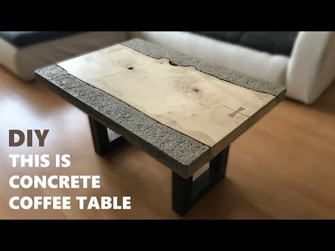 How to make a concrete coffee table