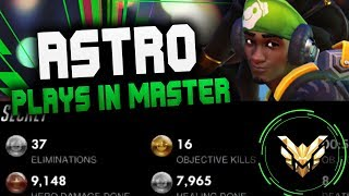 WHEN #1 LUCIO ASTRO PLAYS IN MASTER! [ OVERWATCH SEASON 14 TOP 500 ]