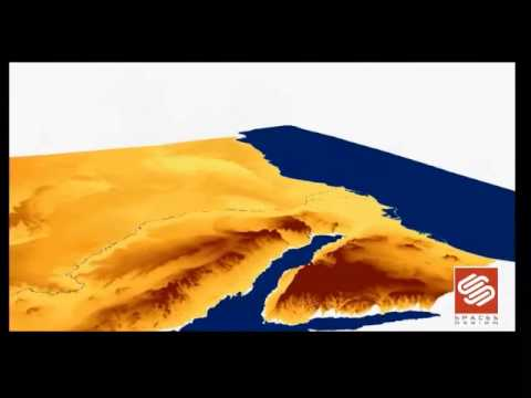 Egypt Contour Map D Animation YouTube - Map of egypt 3d