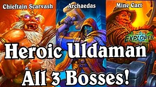 Heroic Uldaman ~ Chieftain Scarvash ~ Mine Cart ~ Archaedas ~ Hearthstone LoE