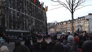 Angela Merkel in front of the town hall in Aachen