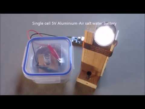 5V Single Cell Aluminium-Air Salt Water Battery