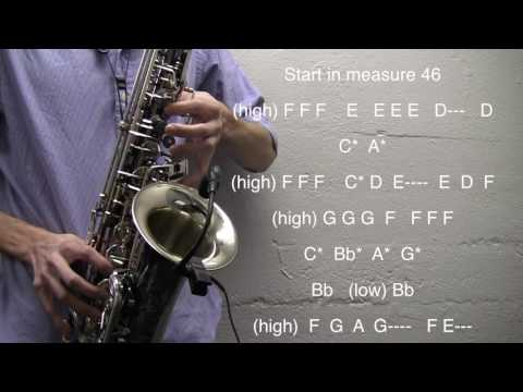 How to play To The Stars - Alto Sax