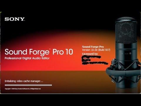 sony sound forge pro 10 keygen free download