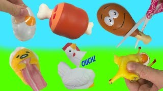 Chicken and Egg Squishy Stress Ball Toys
