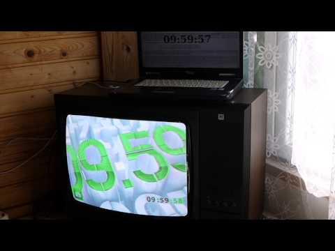 Точное время российского канала НТВ