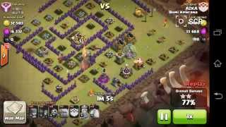 clash of clans war attack TH8vsTH 3star gowi (golem,wizz)