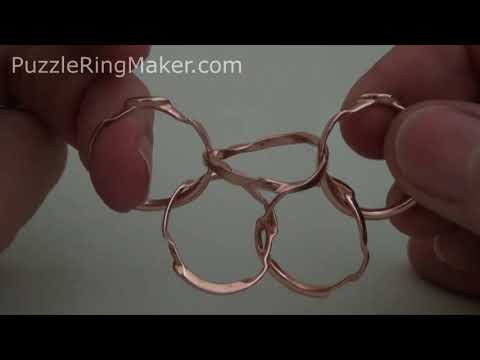 (WOW5) 5 Band Puzzle Ring Solution - PuzzleRingMaker.com