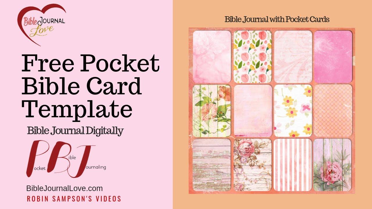 Free Bible Pocket Cards: Printable & PSD File – Bible