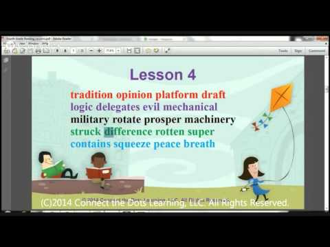 Fourth Grade Reading Lesson 4