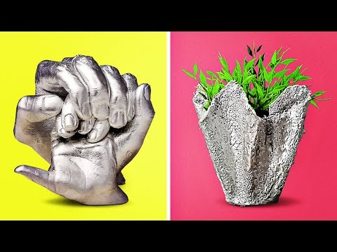 11 COOL CRAFTS WITH CONCRETE AND CLAY