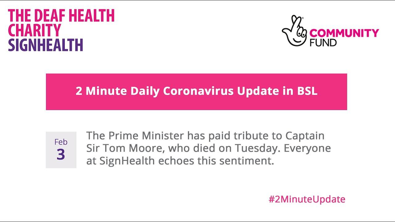 Coronavirus 2 Minute Update - 3rd February 2021