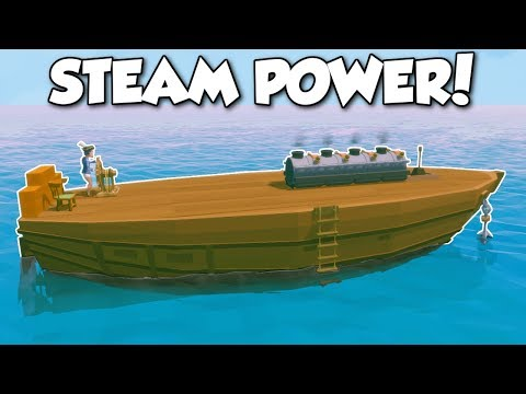 Ylands - STEAM ENGINE SHIP! - Ylands Multiplayer Gameplay & Ship Building