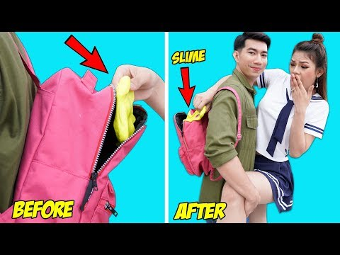 12 BEST PRANKS AND FUNNY TRICKS | FUNNY DIY SCHOOL PRANKS / Prank Wars For Back To School by T-FUN