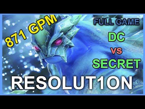 DC Resolution Morphling vs Secret - TI6 - Full Game