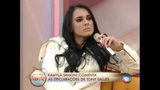 Programa da Tarde Kamyla rebate Tony e diz que foi ameaçada 30/07/2013