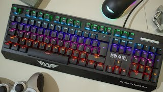 Keyboard Mechanical Murah LED Armagedon MKA 8c Psych Raven