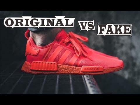 hot sale online bbb35 e00ef Adidas NMD R1 Solar Red Original & Fake