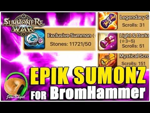 SUMMONERS WAR: 11,000 Stones, 31 Legendary and 59 LD summons 4 BromHammer
