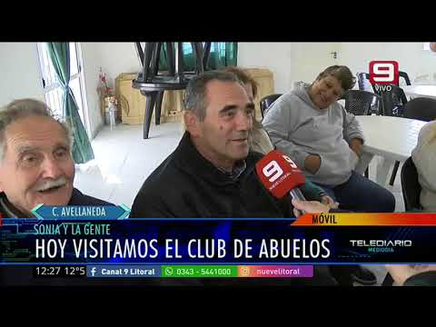 Sonia y la Gente en el Club de Abuelas de Colonia Avellaneda