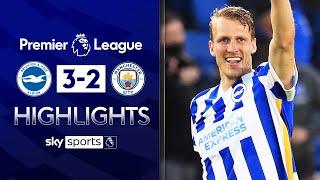 Brighton rock 10-man Man City with EPIC comeback! 😱| Brighton 3-2 Man City | EPL Highlights