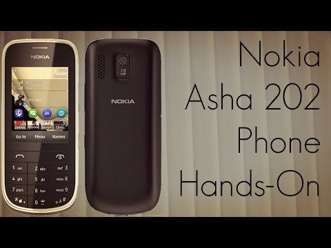 Nokia Asha 202 Mobile Phone Hands-On at MWC 2012