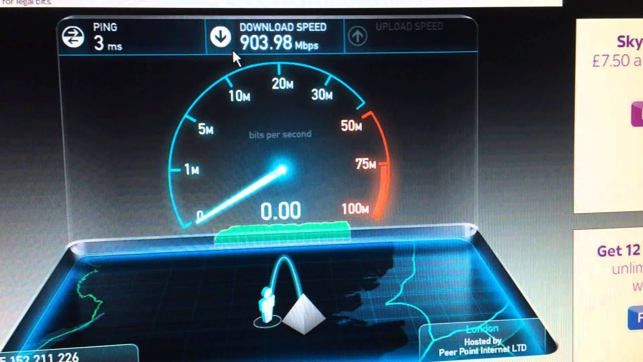 Speed Test Connessione internet 1Gbps - YouTube