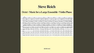 Reich: Music For A Large Ensemble