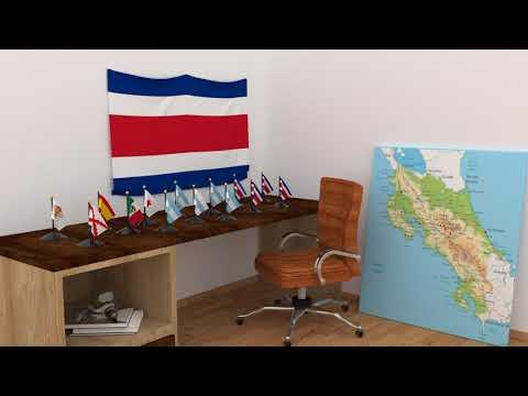 Himno y banderas de Costa Rica | Costa Rica flags and anthem
